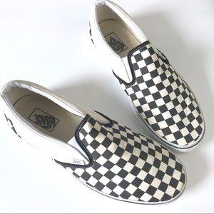 Vans checkerboard black white slip on men shoes 12